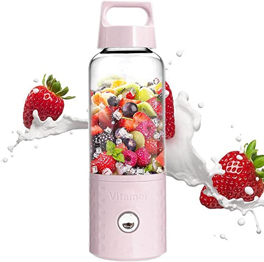 Licuadora portátil, Umiwe 500 ml USB Juicer Cup, fruta, batido ...