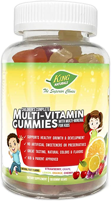 King Naturals Children's Complete Multi-Vitamin Gummies ...