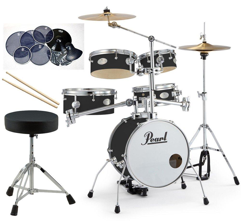 Pearl 小型 ドラムセット RT-645N/C-31 リズムトラベラー サイレントパック ドラムイスとスティック付き一括セット B0779B4KN4