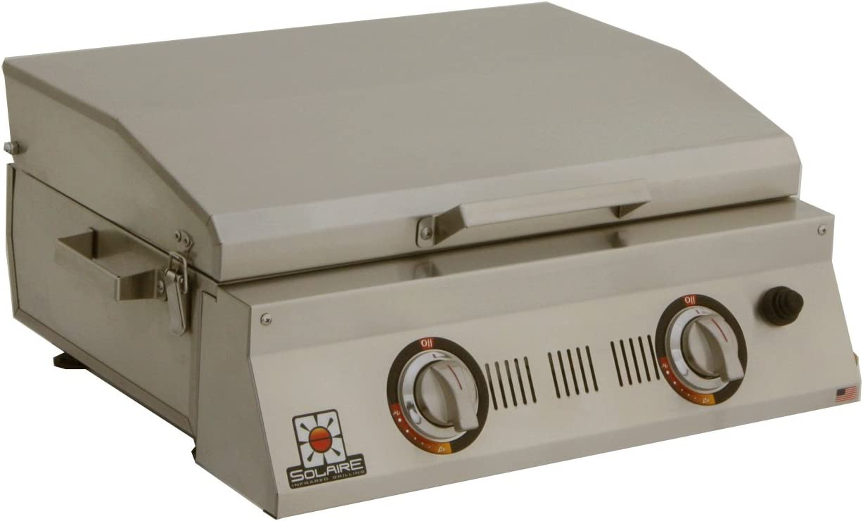 Solaire SOL-AA23A-LP Double Burner Tabletop Infrared Propane Gas Grill