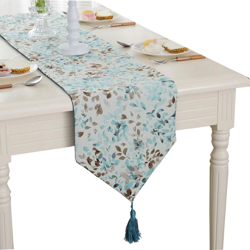 ZebraSmile Various Sizes 100/% Polyester Flower Table Runners with Tassels for Dining Table Decoration Home Decor 13 X 64 Inches SSJU-ZQ-CZ6176-lan32160