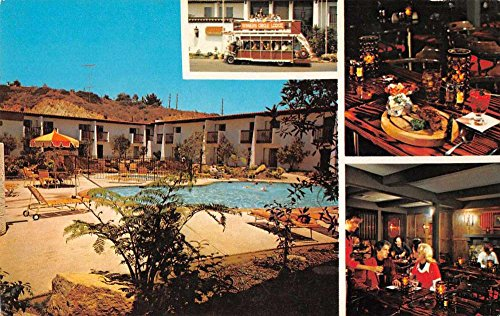 Del Mar California views of Winners Circle Lodge vintage pc - California Mar