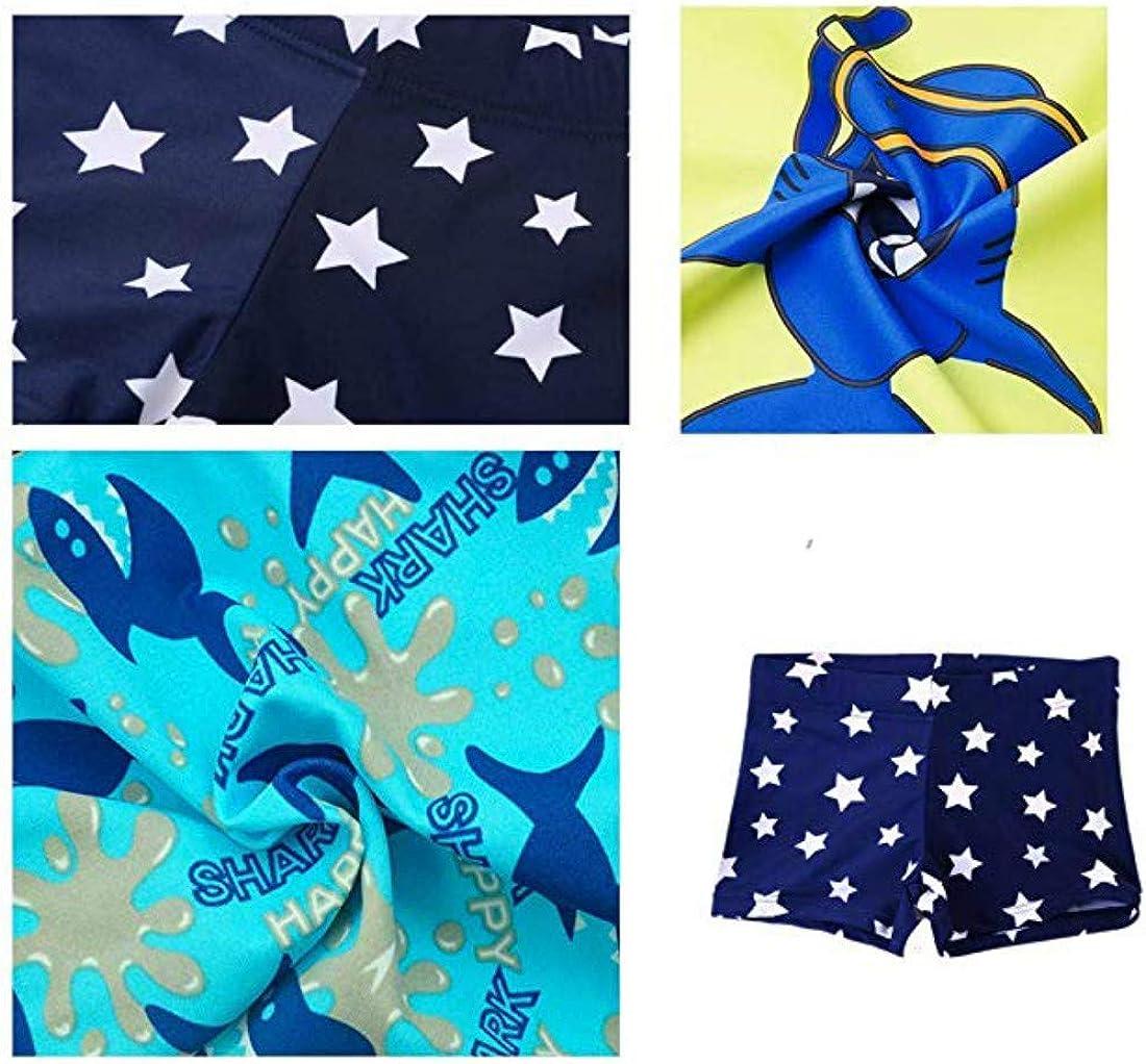 chaqlin Cartoon Dinosaur Boys Kids Beach Swim Trunks Cute Board Shorts with Mesh Lining Size 5-14 Y