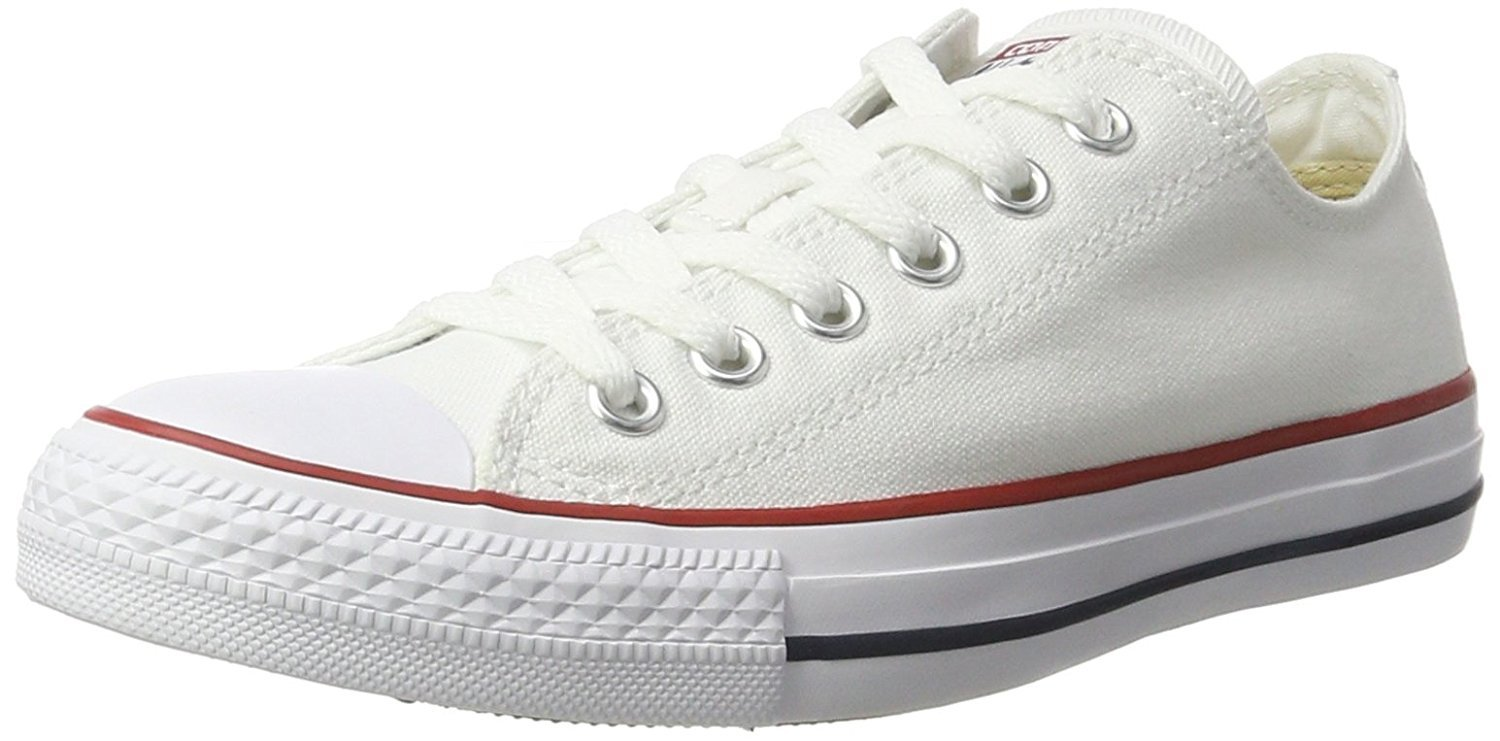 Chuck Taylor All Star Low Top femenino (9.5 B (M) EE. UU., Blanco ¨®ptico) 40 EU B(M)|blanco óptico