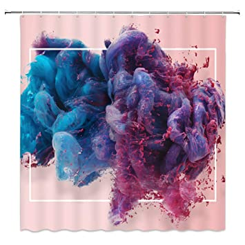 Butterflies in Oil Painting Shower Curtain Bathroom Fabric /& 12hooks 71*71inches