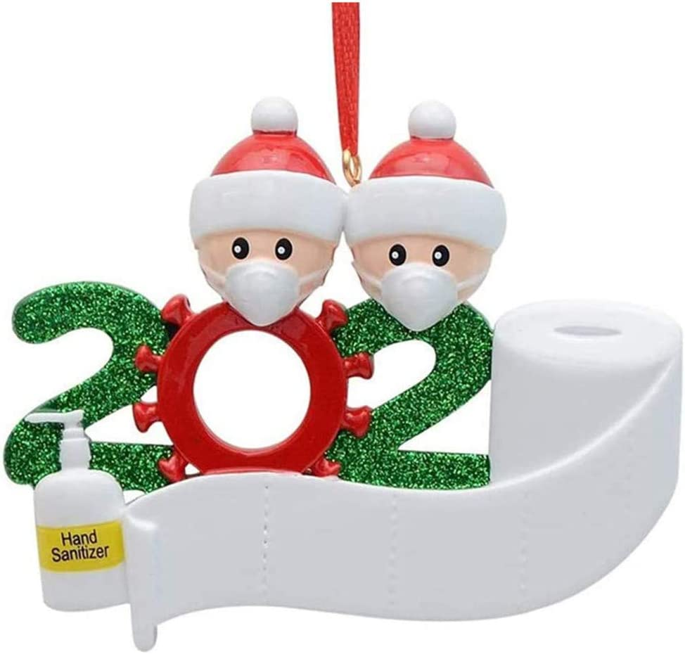 Personalized Quarantine Family Christmas Valentines Day Decorations Ornament Kit Toilet Paper Personalized Valentine's Present for Friends, Toddlers Kids(A)