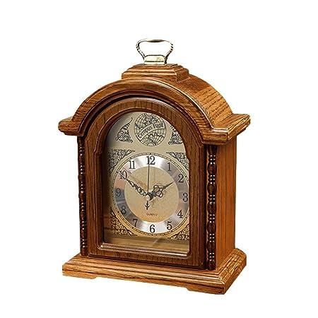 Mantel Clocks Reloj de Chimenea Vintage - Reloj de Mesa de Roble ...