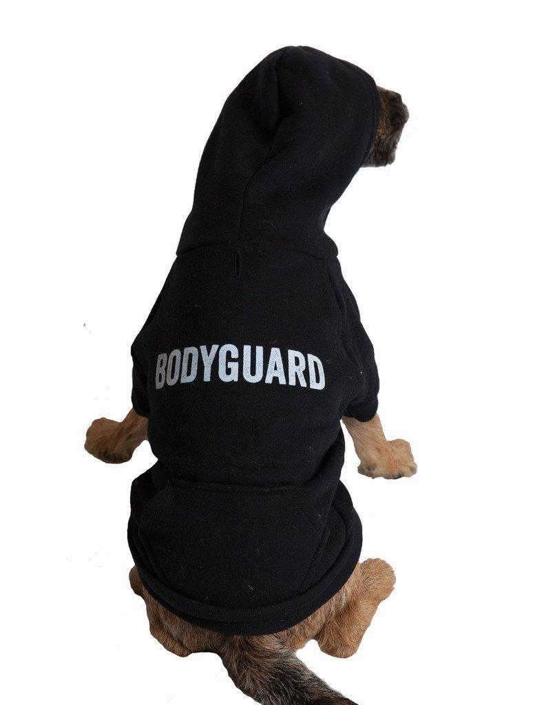 Black Small Black Small POSH365  Bodyguard  Dog Hoodie, Small, Black