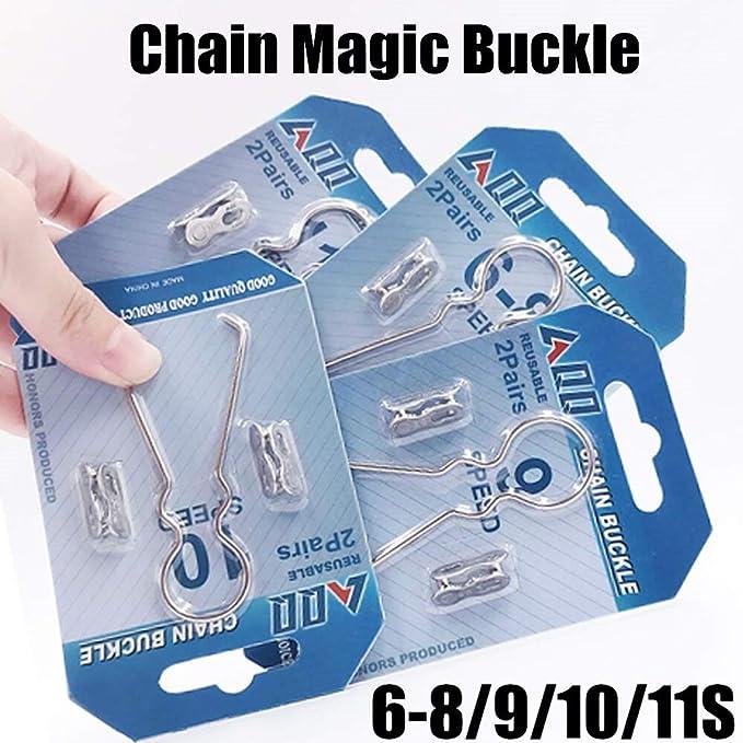 6pcs MTB Road Bike Chain Magic Buckle Bicycle Bike Chain Link Quick Buttons S1