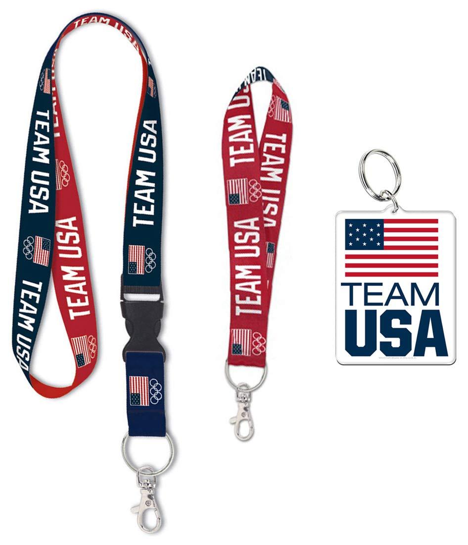 Wincraft Bundle 3 artículos: Olympics Team USA 1 cordón, 1 ...