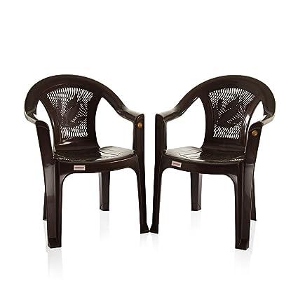 Varmora Medium Back Chair Set of 2 (Vermo - Brown)
