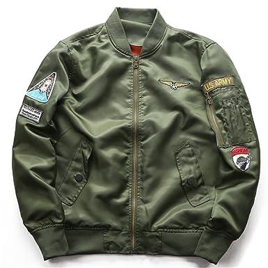 b138b33da Amazon.com: Air Force Bomber Jacket Men Men's Tactical Military Jacket Male  Windbreaker Mens Army Bombers Flight Jacket militaire.BB47: Clothing