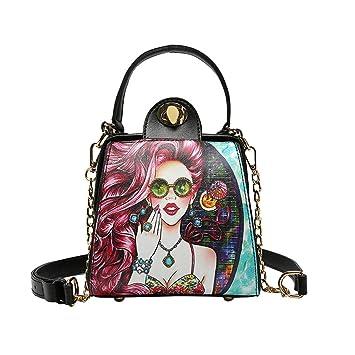 Amazon.com: Fiudx Bolsas de hombro, impresiones hermosas ...