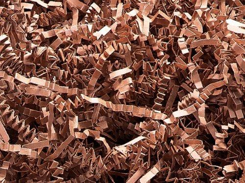 Natural Tan Crinkle Cut Shred 10 lb Box ~ Spring-fill Shred (2 Boxes) - WRAPS-ZF10TA