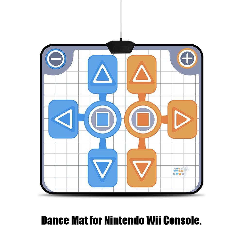 Double Person Dancing Mat,Non-Slip Game Dance Pads for Nintendo Wii Console Game,Plug and Play for 2 Player by Tangxi (Image #4)