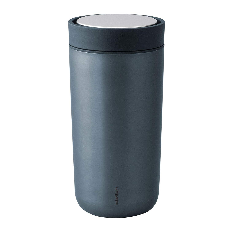 Stelton blau metallic Thermobecher 0,4 L to go Click Trinkbecher