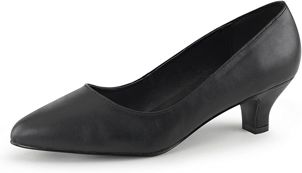 11436134fe Womens 2 Inch Heels Matte Black Classic Pumps Block Heel Pointed Toe Shoes  Size: 9