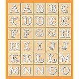 K&Company Orange Dots Alphabet Die-cut Stickers