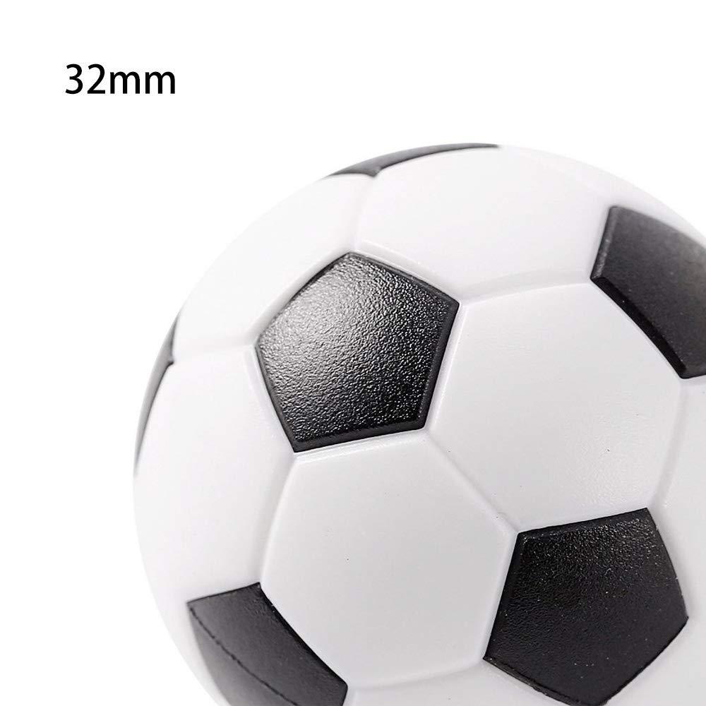 Tomkity 24pz Mesa Futbol/ín Balones F/útbol Pl/ástico Pelota de Recambio 32 mm para Infantil Adultos Negro Blanca