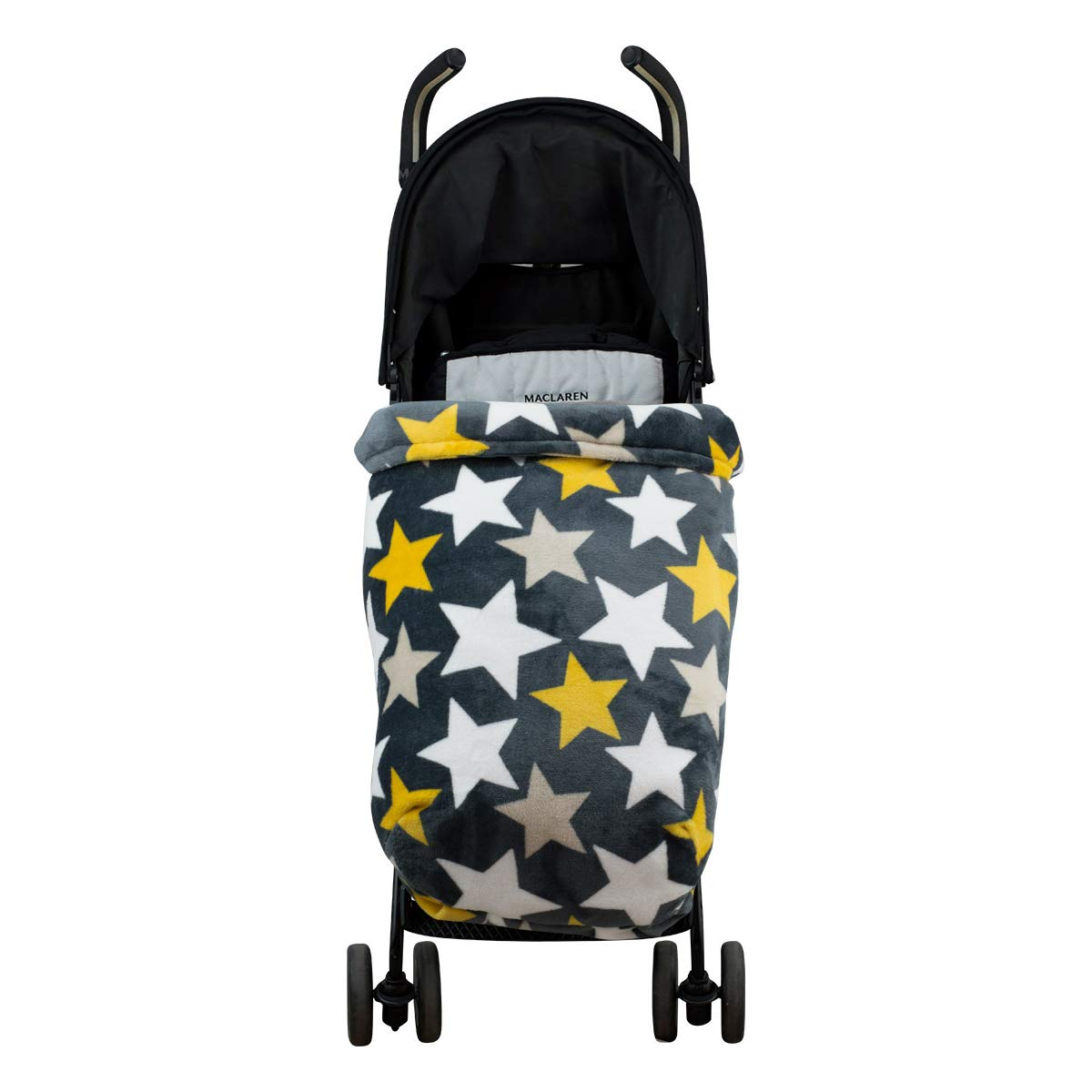 Janabebé Universal Baby Blanket Footmuff for Pushchairs (Nordic Yellow, Polar Fleece)