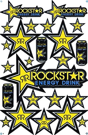 Rockstar Energy Drink Supercross Motocross Aufkleberset Auto
