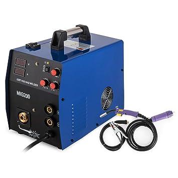 Cueffer Equipo de Soldadura MMA 220A Máquina de Soldadura Eléctrica Soldador Inverter con Electrodo MMA 220A Soldador Eléctrico (MIG / MMA200A): Amazon.es: ...