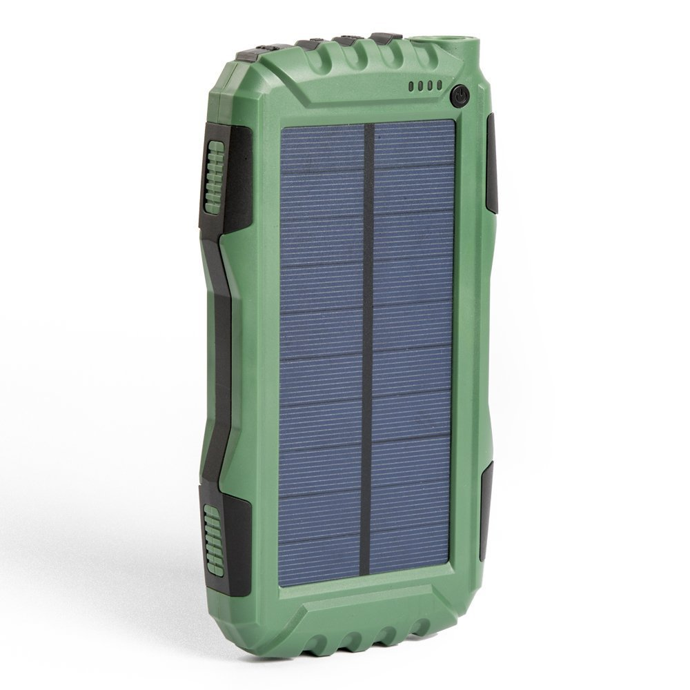 Solar Charger, Zonhood 25000mAh Solar Phone Charger Portable External Battery Pack with Dual USB Ports and LED Flashlight, Solar Power Bank for iPhone, Android and More