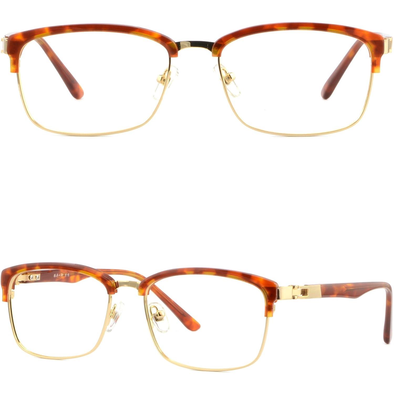 08739e855b0 Amazon.com  Plastic Metal Browline Frame Light Prescription Glasses  Sunglasses Tortoiseshell  Clothing