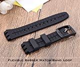 6Pieces Rubber Watch Band Strap Loops Black Clear