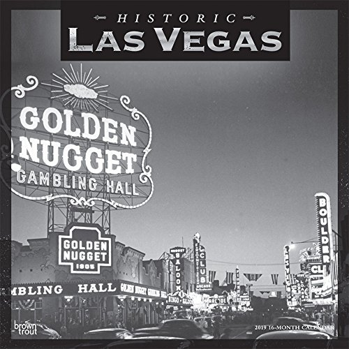 Las Vegas Historic 2019 12 x 12 Inch Monthly Square Wall Calendar, USA United States of America Nevada Rocky Mountain City
