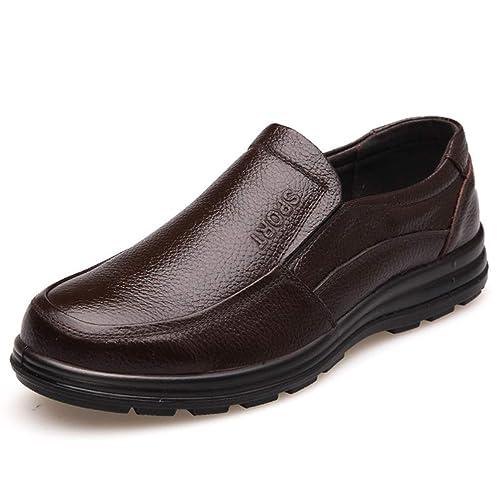 Hombres Zapatos De Cuero Calzado Antideslizante Grueso úNico Moda Hombre Mocasines: Amazon.es: Zapatos y complementos
