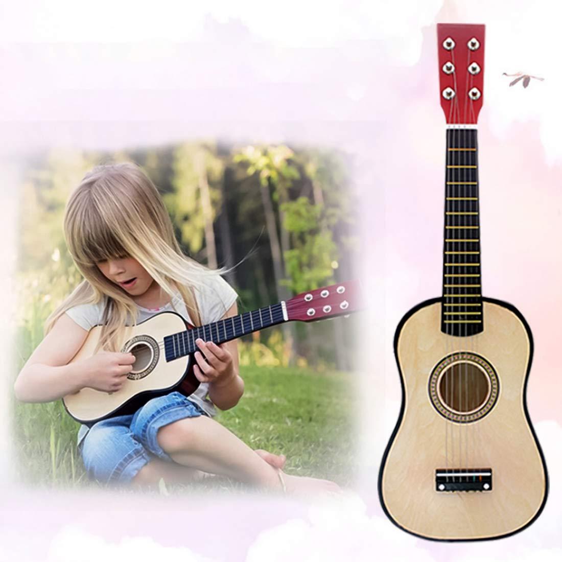 6 Saiten 23 Zoll Musikinstrument Kinder Gitarre Spielzeug f/ür Kinder ab 3 Jahren f/ür Anf/änger geeignet Blau OVERWELL Kindergitarre aus Holz