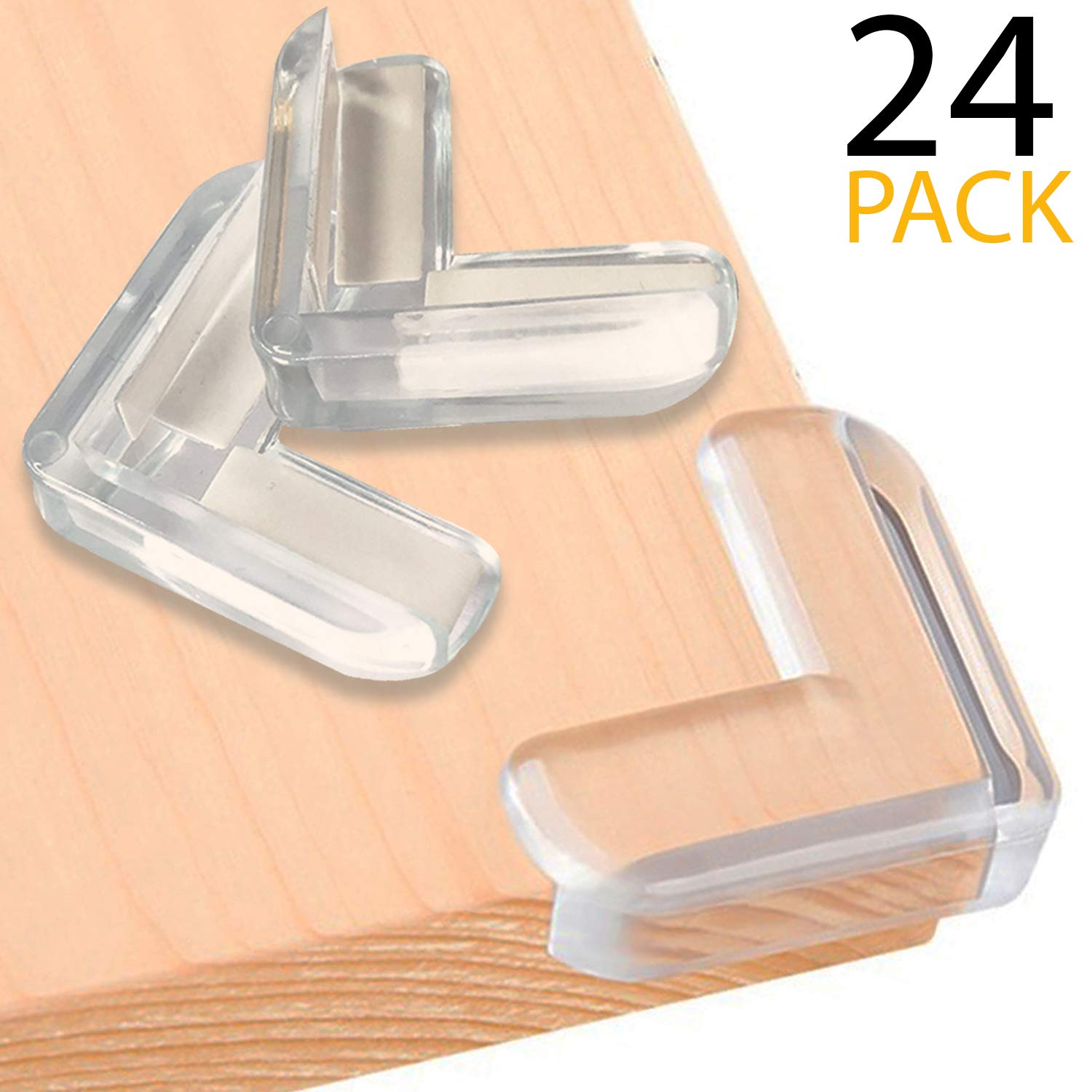  24 Pack  Clear Corner Protector  Baby Proofing   Impact Absorbent Furniture Corner Guards  Baby Safety Sharp Table Corner Protector  High Resistant Adhesive   SurBaby