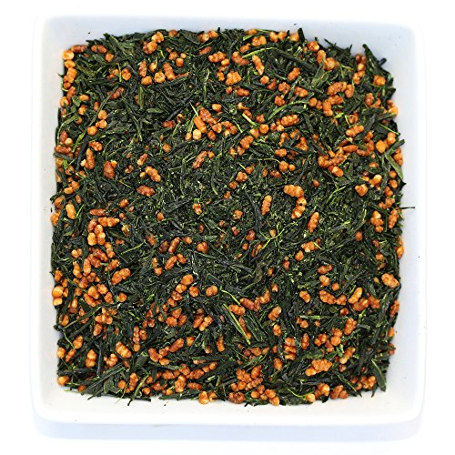 Tealyra - Imperial Gyokuro With Roasted Brown Genmaicha Rice Japanese Loose Leaf Green Tea - Organic (7oz / 200g) (Japanese Gyokuro Green Tea)
