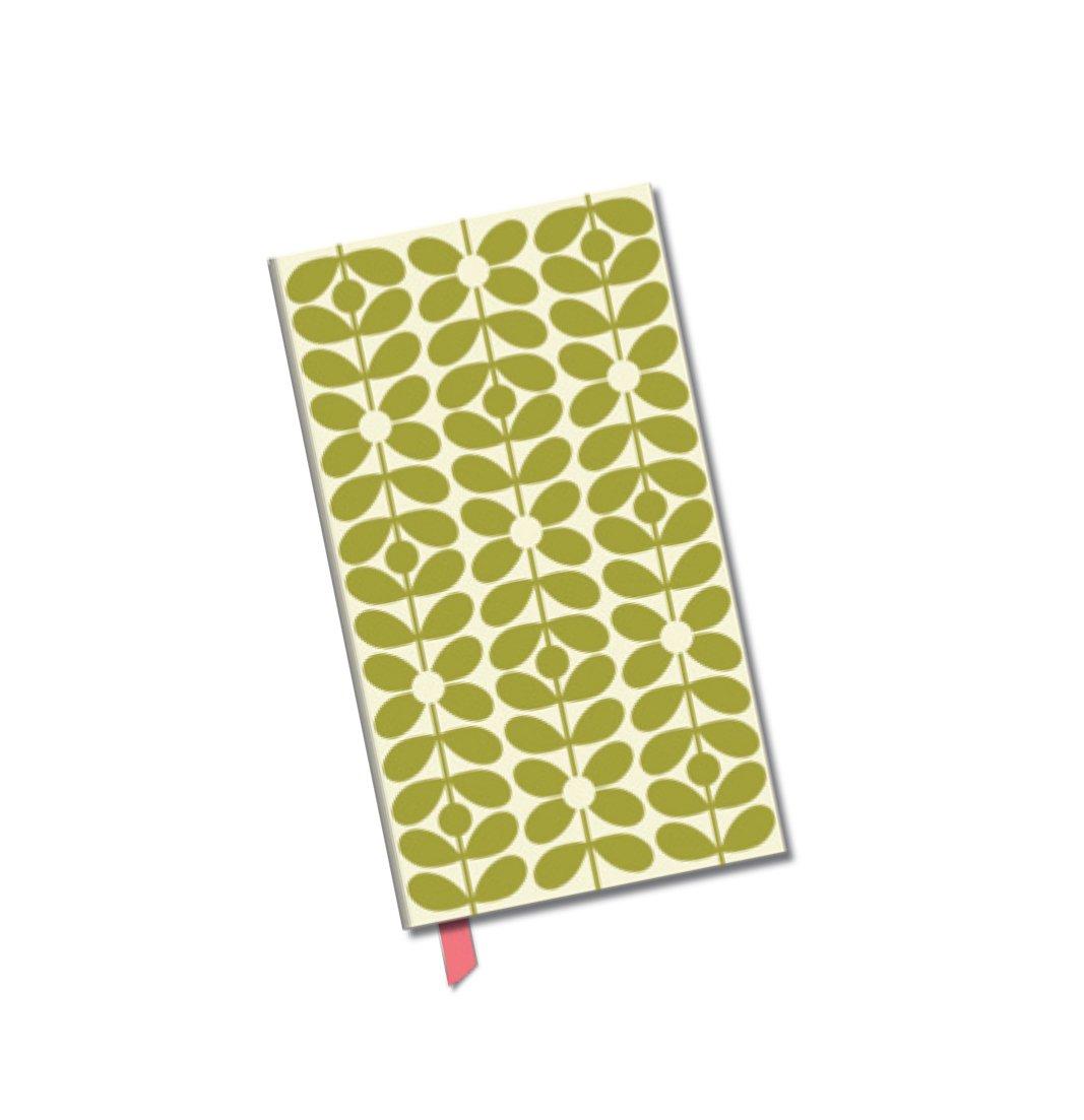 Orla Kiely Sixties Stem Fabric-Covered Slim Address Book