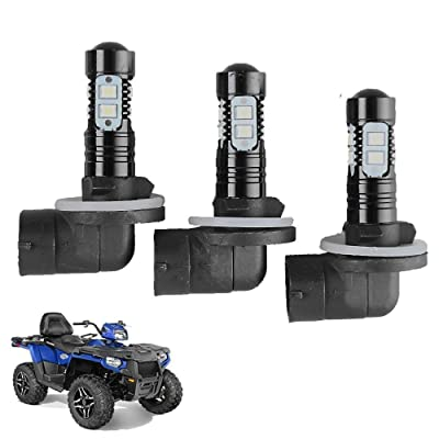Headlight Bulbs Lamps For Polaris Sportsman ACE 150W 6000K 3600LM Super White Color 3 Pack: Automotive