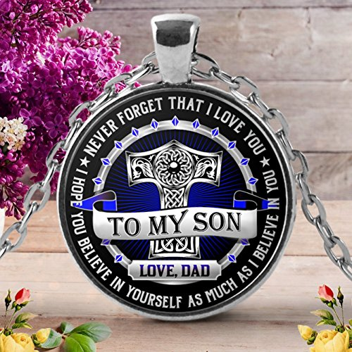 Great Idea Father Son Necklace - To My Son Necklace - Gifts for Son from Father Dad, Gifts for Birthday Your Son, Wedding Gift Son, Best Father Son Gifts, Meaningful Gift from Father To Son.
