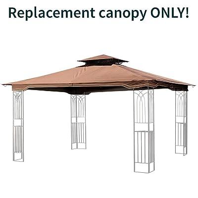 Sunjoy Replacement Gazebo Canopy for 10 x 12 Regency II Patio Gazebo, Brown: Home Improvement