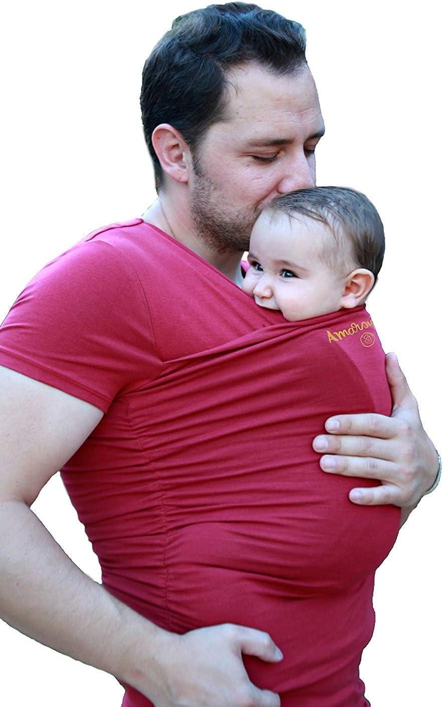 Color gris Antic/ólicos beb/é Hombre Amarsupiel Talla S Camiseta de porteo camiseta portabeb/és 36-38