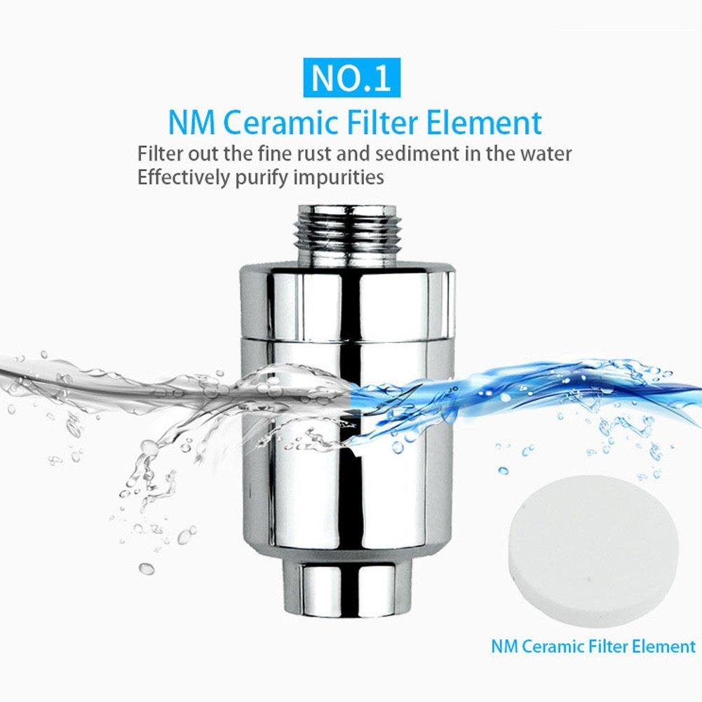 Lionina High output universale cartuccia filtro doccia ioni negativi depuratore d' acqua filtro al carbone attivo, soffione a, anti-batteri zolfo e altre sostanze nocive depuratore filtro