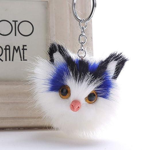 LEEDY 2019 - Llavero Colgante para Mujer, diseño de Gato con ...