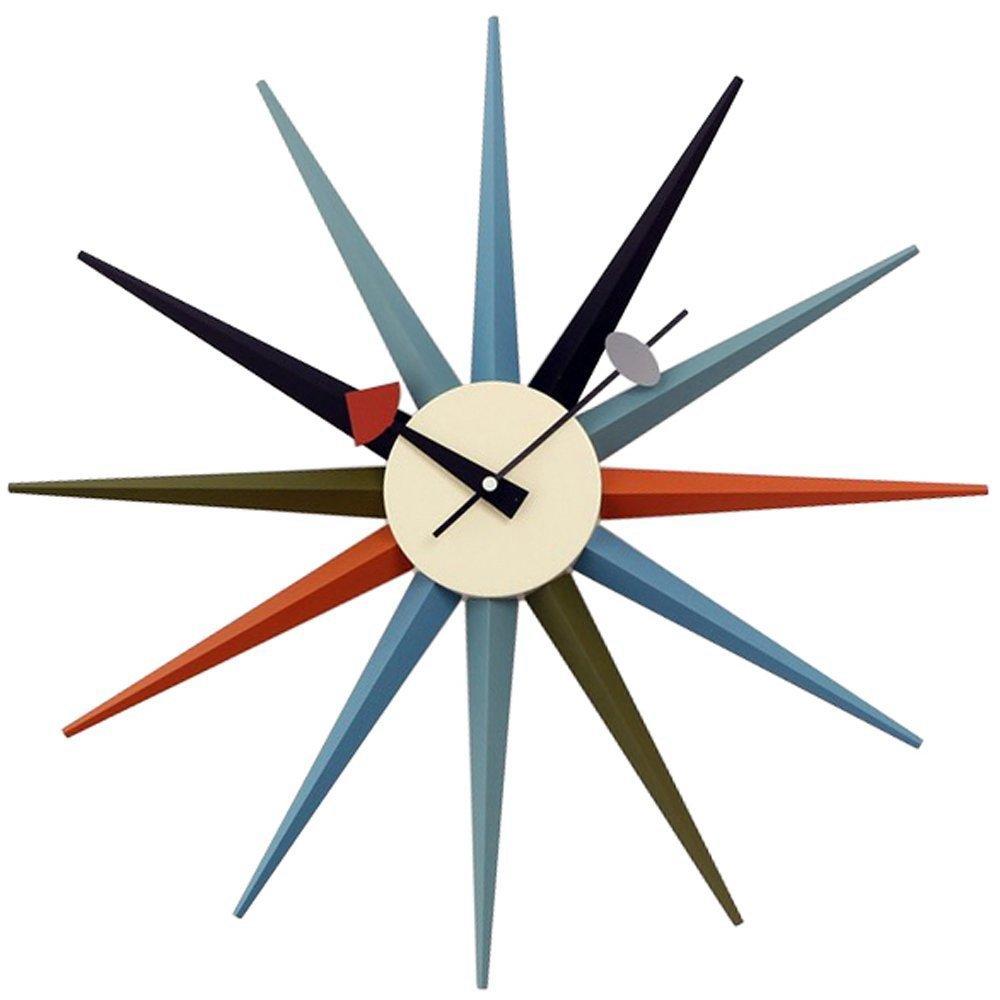 GEORGE NELSON SUNBURST CLOCK 正規ライセンス商品 ジョージネルソン サンバーストクロック 掛け時計 マルチカラー B071D69Y1K