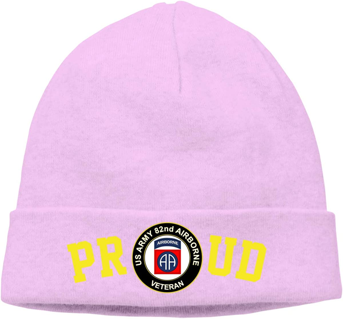 FORDSAN CP Proud US Army Veteran 82nd Airborne Mens Beanie Cap Skull Cap Winter Warm Knitting Hats.