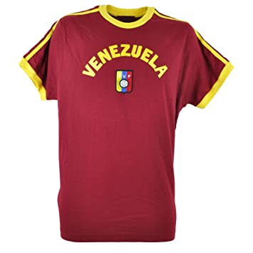 Copa del Mundo de Venezuela Tee Camiseta Fútbol granate Futbol para hombre la Vinotinto, XL