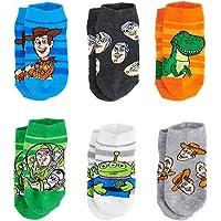 Calcetines de corte bajo para niños pequeños de Disney Toy Story (2T-4T), paquete de 6