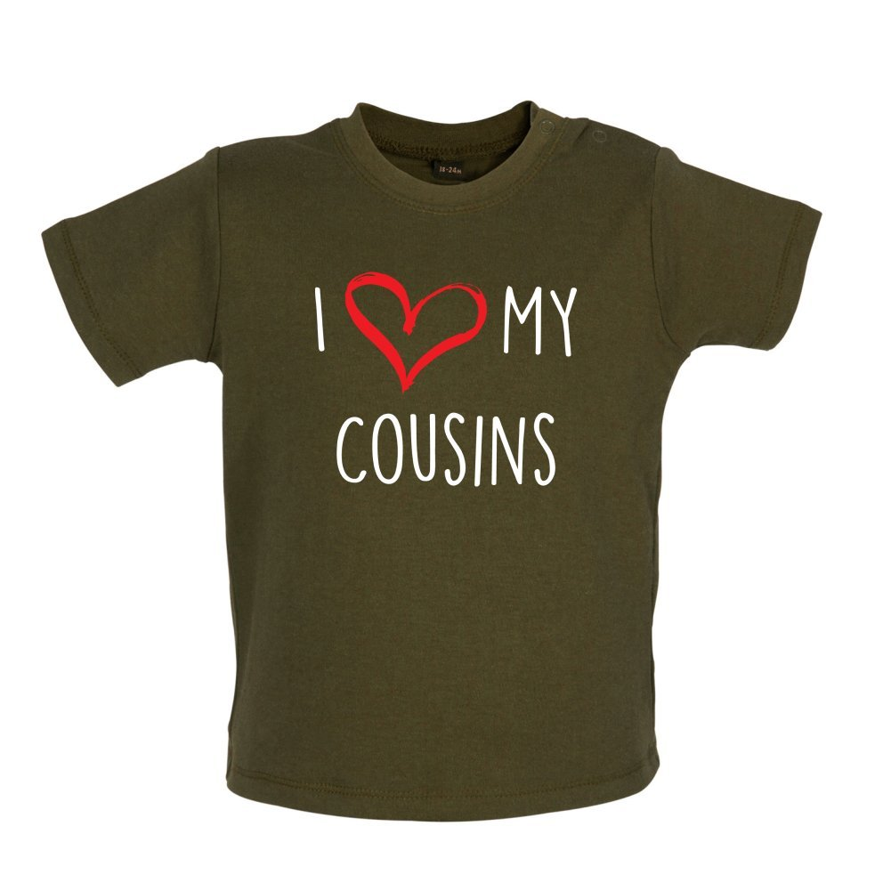 7 Colours 3-24 Months Baby T-Shirt I Love My Cousins