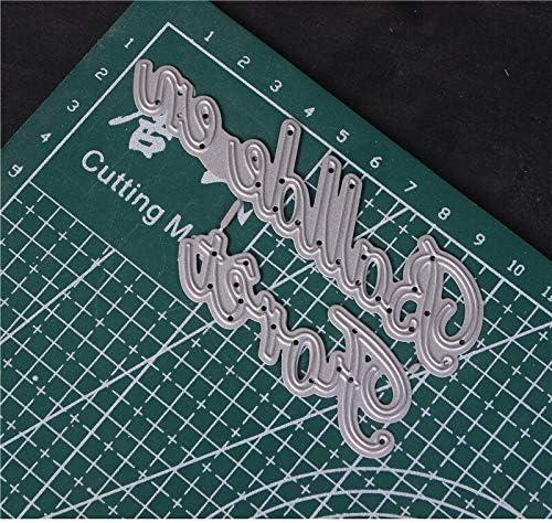 Mot fran/çais coupe en m/étal meurt pour bricolage Scrapbooking Die Cut nouveau 2018 coupes pour papier carte faisant artisanat gaufrage je taime ccq