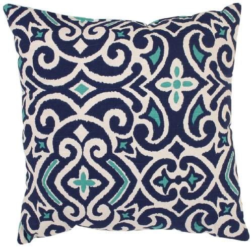 Pillow Perfect White Damask 18 Inch