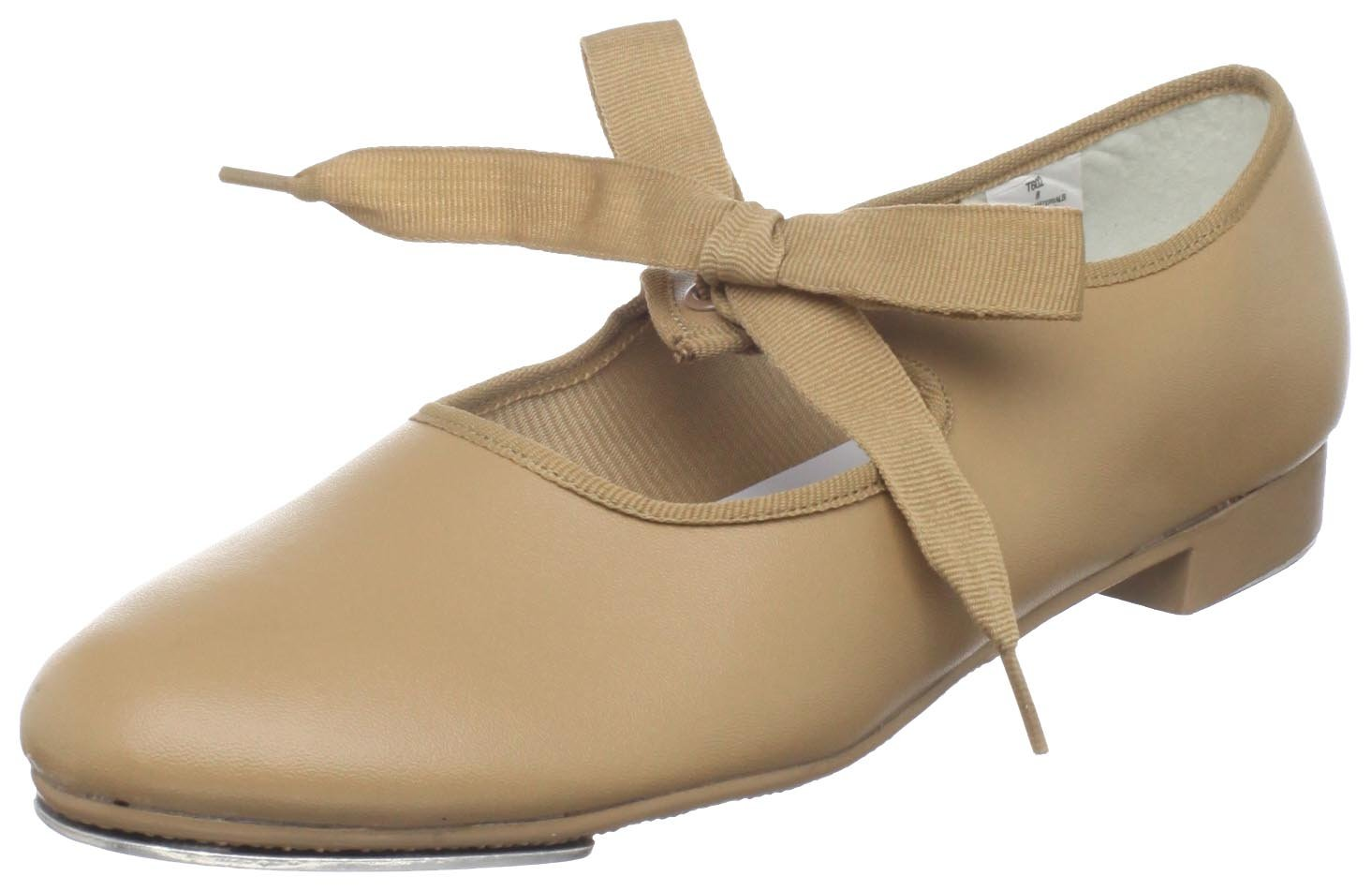 Dance Class Women's T602 Beginning Tap Shoe,Caramel,7.5 M US