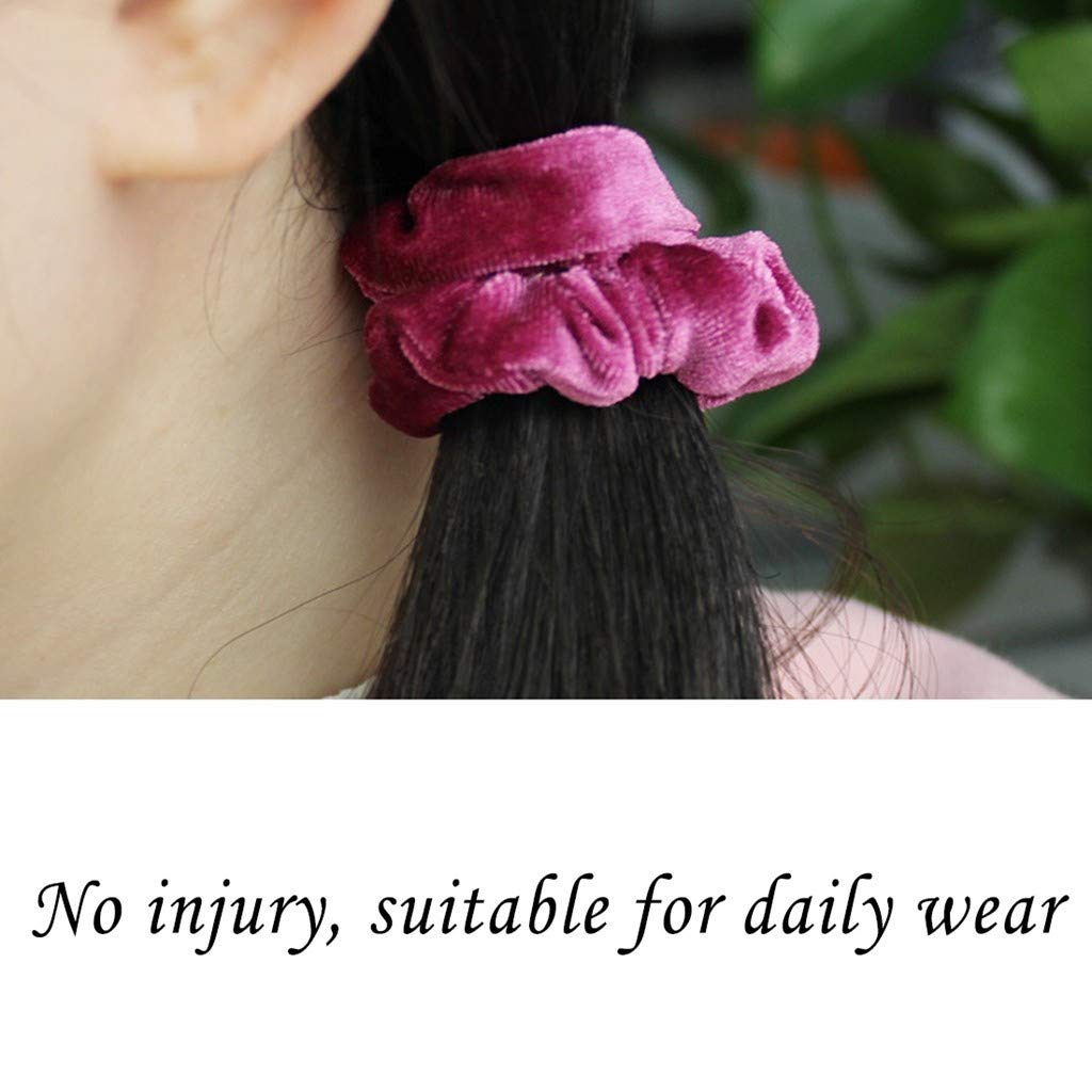 Multicolor 16 Pcs Velvet Elastic Hair Bands Lovely Hair Scrunchies Hair Bow Ponytail Holder Hair Ties Ropes Colorful Hair Accessories for Women Ladies and Baby Girls